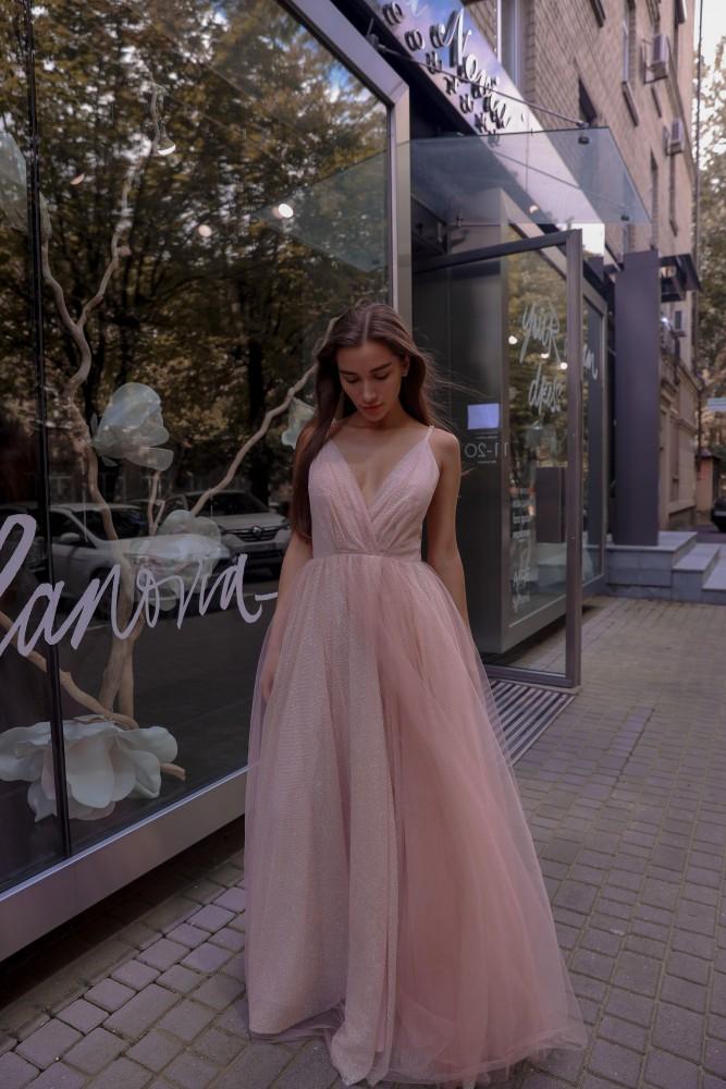 Вечернее платье BRT07 blush